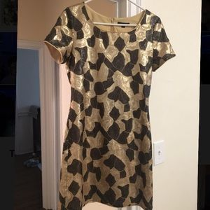Rachel Zoe Brown/Gold Sequin Party Dress